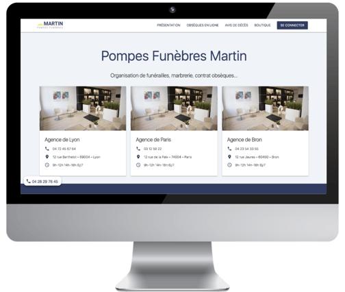 Site internet pour pompes funèbres